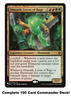 MTG Commander EDH Deck Omnath, Locus of Rage 100 Magic Cards Custom Deck R/G