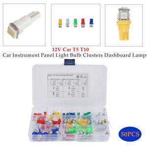 50×12V Car T5 10 Instrument Panel Light Bulb Clusters Dashboard Turn Signal Lamp