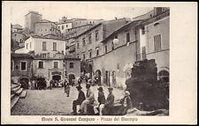 cartolina MONTE S.GIOVANNI CAMPANO piazza del municipio