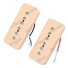 1 Set 2 Pcs P90 Cream Soapbar Pickups Single Coil Pickups for Electric guitar