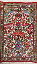 Ghom Teppich Orientteppich Rug Carpet Tapis Tapijt Tappeto Alfombra Retro Rosen