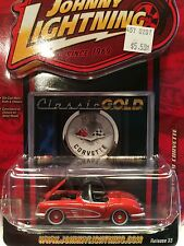 Johnny Lightning~1958 CHEVY CORVETTE~w/Opening Hood & Rubber Tires