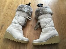 MARC JACOBS Quilted Suede Fur Lined Wedged BOOTS SIZE 37 UK 4 US 7