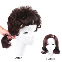 Women 100% Human Hair Curly Toupee Clip in Top Hairpiece Topper 13*14cm Base Net