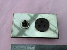 !920's/1930's Nickel finish flush fitting switch & socket (Art Deco)