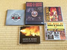 GUNS N' ROSES Lot including 4 CDs & 1 DVD COLLECTION, SINGLE & LIVE SHOWS