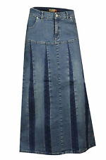 Denim A-line Skirts Plus Size for Women