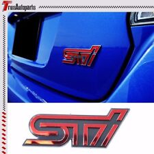 Subaru STI Red logo Trunk emblem badge sticker decal Impreza GDB WRX GC8