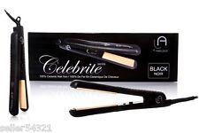 """Le Angelique """"Celebrite"""" 100% Ceramic black flat iron"""
