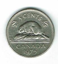 1975 Canadian Circulated  Elizabeth II five Cent Coin!