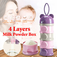 Portable Infant Baby Milk Powder Food Formula Dispenser Container Pot Box Case V
