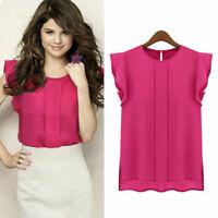 New Chiffon Women Casual Sleeveless Vest Tank Tops Loose Chiffon T Shirt Blouse