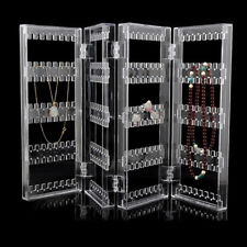 Clear Acrylic Earrings Necklace Jewelry Display Rack Stand Organizer Holder