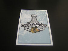 2013/14 Panini Hockey Stanley Cup Champions Sticker #3***Chicago Blackhawks***