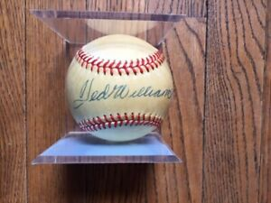 Ted Williams Autographed American League Baseball, Lee MacPhail JSA PSA