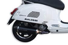 MARMITTA MALOSSI RX BLACK OMOLOGATA VESPA GT 200 GTS SUPER 125 300 COD. 3216703