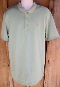 Izod Advantage Stretch 1/4 Button Polo Golf Shirt Men's Size Large Tall LT - EUC