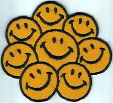 Iron On/ Sew On Embroidered Patch Badge Smiley Faces Face Smiler Smile Group of