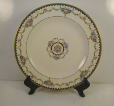 French Limoges Theodore Haviland 10 inch Dinner Plate Pink Roses/Blue flowers
