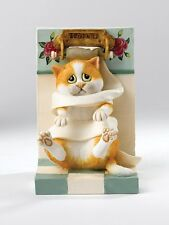 Comic & Curious Cats A25897  Wrapped Up Cat Figurine NEW in Gift BOX  21430