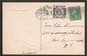 US Sc WX10, 405 on 1912 embossed Merry Christmas PPC