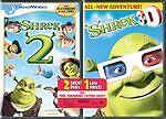 Shrek 2/Shrek 3D Party in the Swamp 2-Pack (Dvd, 2008, 2-Disc Set, Back to.