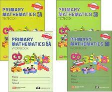 Primary Mathematics 5A and 5B SET -- Textbooks & Workbooks - U.S. Edition - NEW