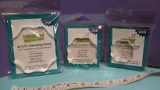"""Lawn Fawn CLEAR ACRYLIC ROUND STAMPING BLOCK SET ~ 1.75, 2.5, 3.5"""" X 1/2"""" thick"""