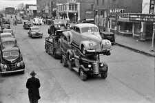 1939 Gmc Truck hauling the load of 1940 Pontiacs 8 x 10 photograph