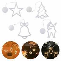 LED Fensterbild LEDs Stern Baum Glocke Saugnapf Weihnachten Fensterdeko Xmas