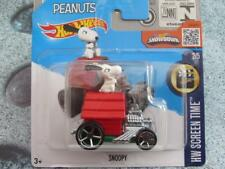 HOT WHEELS 2016 #222/250 Snoopy perro Aparador oh5 ruedas HW Pantalla Time Funda