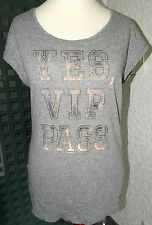 Neu oversized esprit T-Shirt Gr.M etwa Gr.40 grau Knitterlook Baumwolle