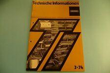 Grundig Technische Informationen Heft 3.1974 Weltklang WK 4505, CN 710, CN 730,
