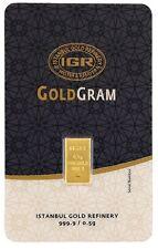 0.5 gram 1/2 gr 999.9 24 carat gold bar Goldbarren goudstaaf lingot d'or gullbar