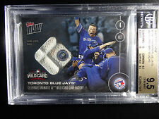 2016 Topps Now #539C Blue Jays Wild Card Win 29/49 Game Used Base 9.5 BGS Card