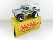 MATCHBOX SUPERFAST 22d Big Foot 4x4 Pick-Up-Argent peint Base-Comme neuf/boxed