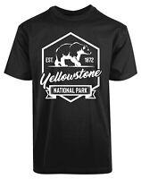 Yellow Stone National Park EST 1872 New Mens Shirt Polo Bear Animal Love Top Tee