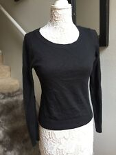 H&M Acrylic Sweater Black Size S Button Back Detail