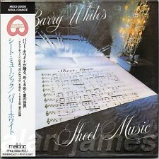 Barry White SHEET MUSIC 1980/1995 Unlimited Gold JAPAN CD MLPS OSR OOP RARE