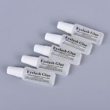 5pcs 2ml eyelash glue plastic tube flat travel transparent glue ESUS