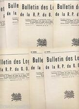 Bulletin des loges de la RP du GODF 7 numéros 24è année 1971 1972  grand orient