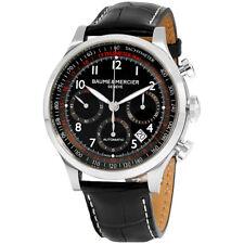 Baume & Mercier Capeland Black Dial Leather Strap Men's Watch M0A10084