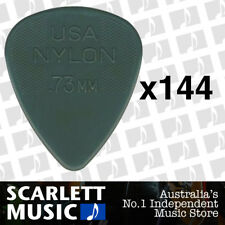 4 X Jim DUNLOP Nylon Standard Greys .73mm Guitar Picks Plectrums 0.73 Grey