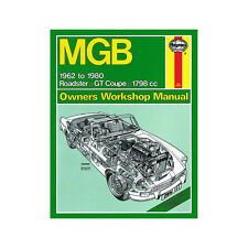 MGB 1.8 Petrol Roadster GT Coupe 1962-80 (up to W Reg) Haynes Manual