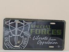 US Army Special Forces Liberate form Oppression Embossed License Plate