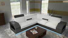 Ecksofa Sofa Couch Polster Wohnlandschaft Leder Eck Sofas Garnitur Madagaskar L