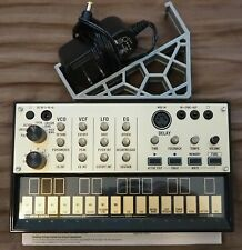Korg Volca Keys analog synthesizer with power supply and stand