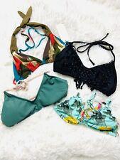 Lot of 4 Bikini Tops Size XS Guess Xhilaration L*Space (NWT)  Beach Pool