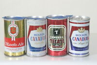 4 Import Beer Cans - Molson, Tecate
