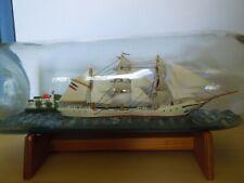 Flaschenschiff, Buddelschiff, Segelschiff, 3 Stück in den Größen 33cm, 19cm, 11c